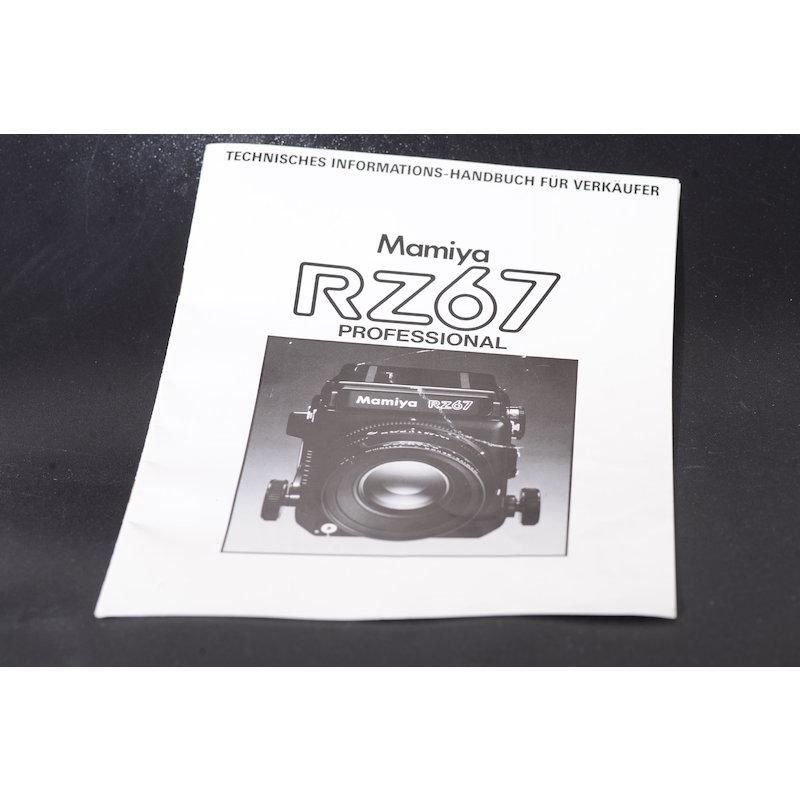 Mamiya Prospekt RZ67 - Technisches Informations-Handbuch