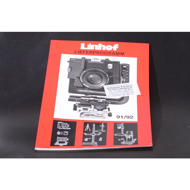 Linhof Lieferprogramm 1991/1992