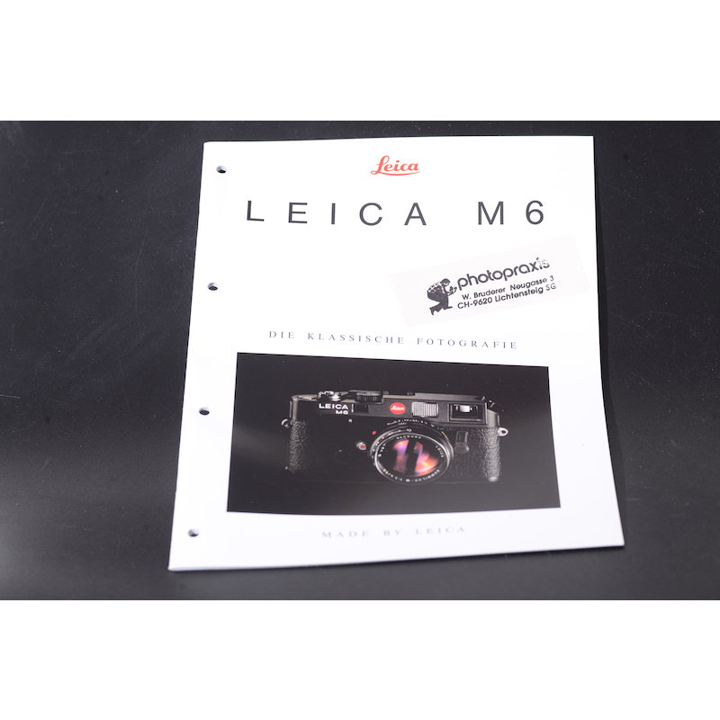 Leica Prospekt M6 - Die Klassische Fotografie