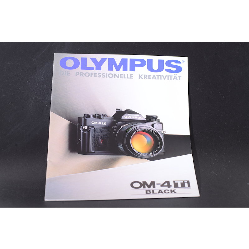 Olympus Prospekt OM-4 TI Black Die Professionelle Kreativi