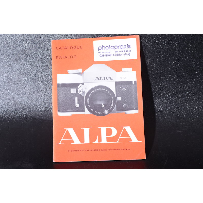 Alpa Katalog 1968