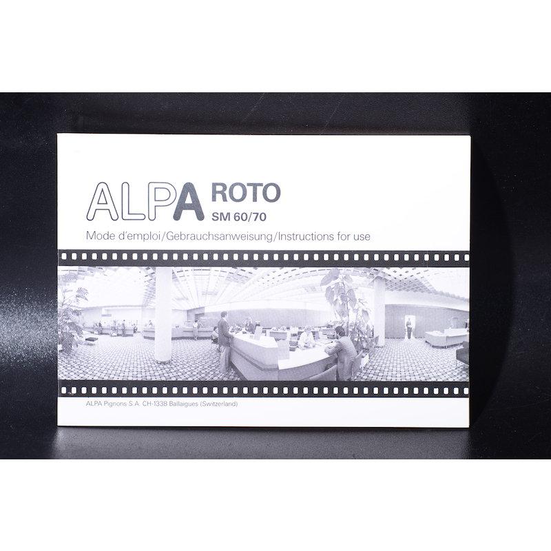 Alpa Anleitung Roto SM 60/70