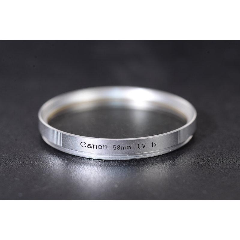 Canon UV-Filter Silber E-58