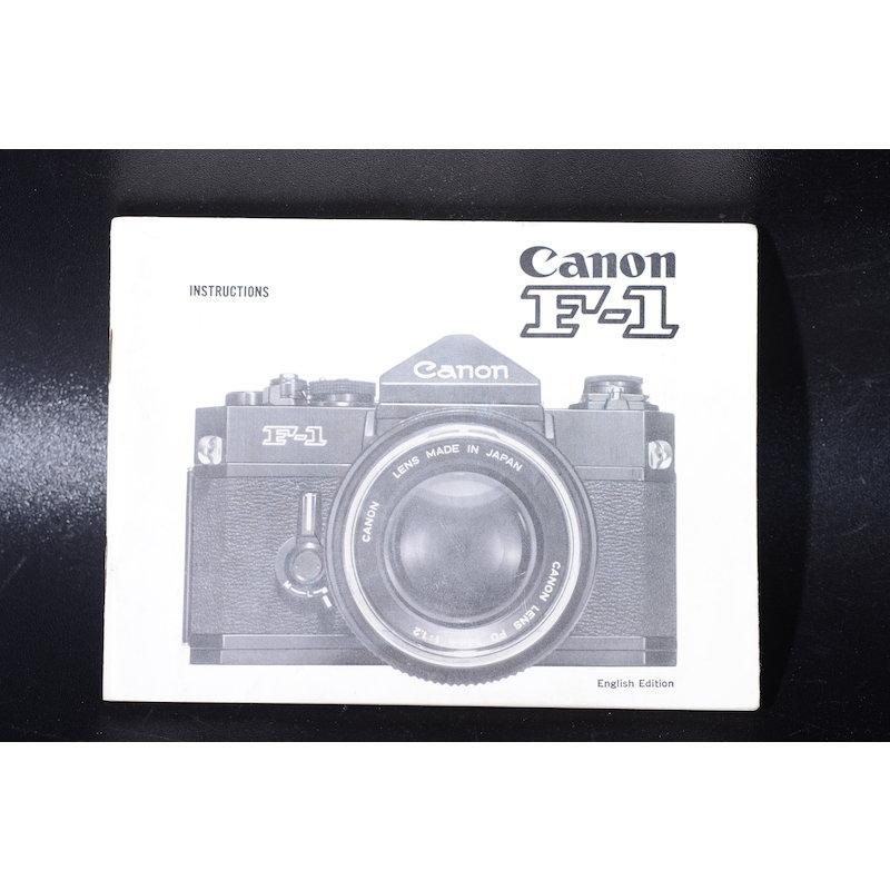 Canon Anleitung F-1 (Englisch)