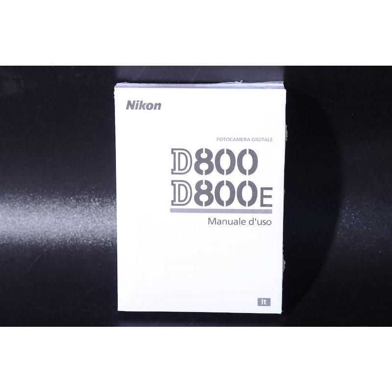 Nikon Anleitung D800 (Italienisch)