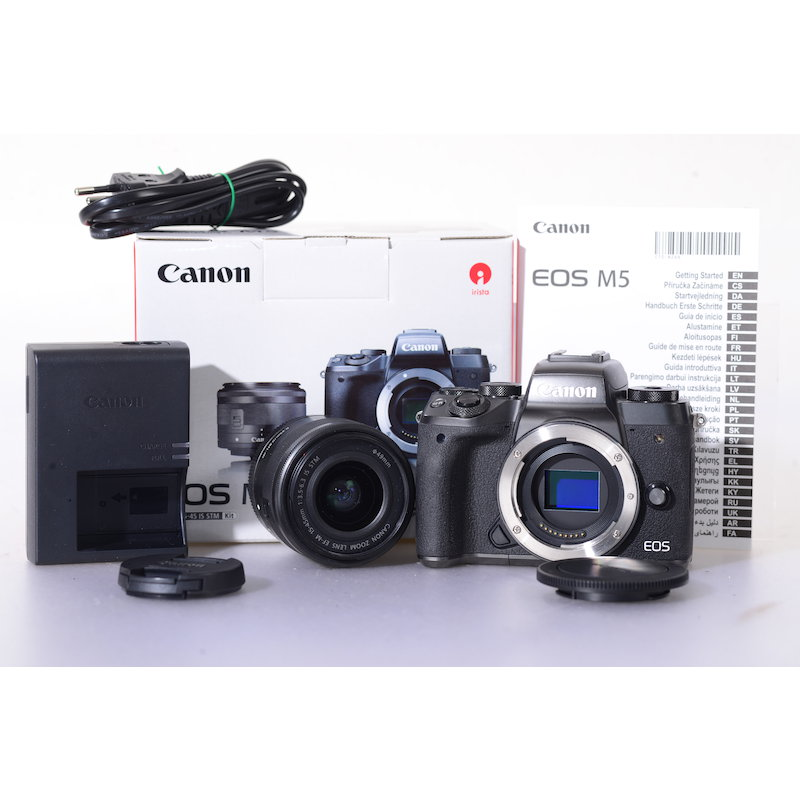 Canon EOS-M5+EF-M 3,5-6,3/15-45 IS STM Kit