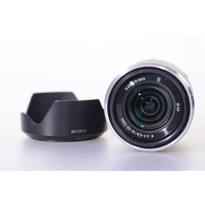Sony E 3,5-5,6/18-55 OSS Silber E-Mount