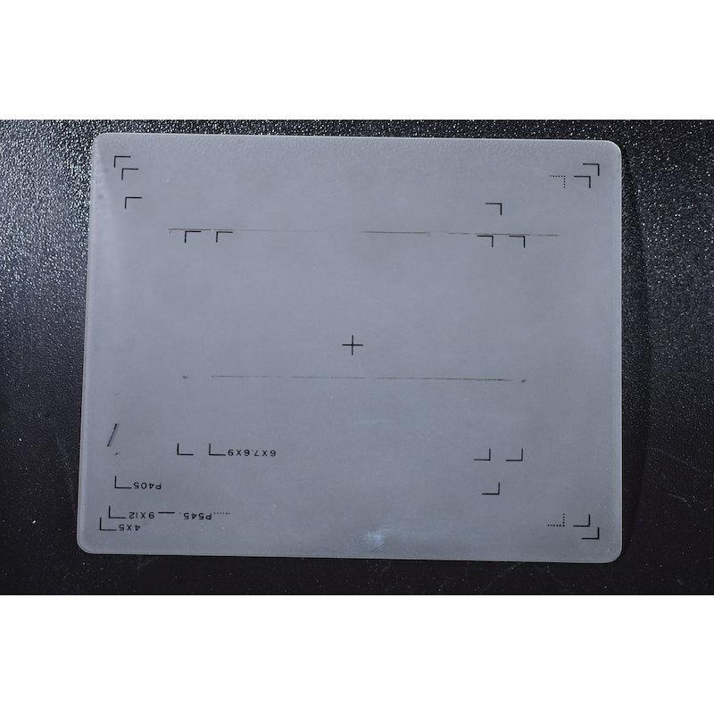 Toyo Einstellscheibe Matt 4x5 mit diversen Formateinteilungen