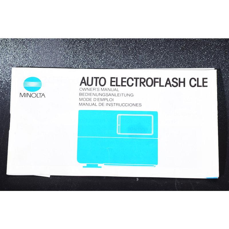 Minolta Anleitung Auto Electroflash CLE