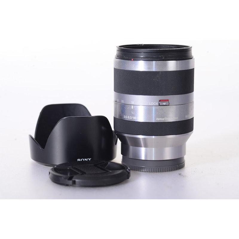 Sony DT 3,5-6,3/18-200 OSS E-Mount Silver #SEL18200  (Filter fest verschraubt)