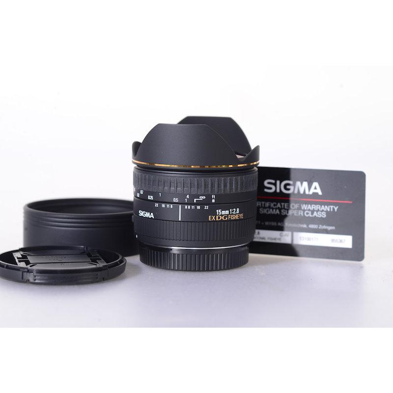 Sigma EX 2,8/15 DG Fisheye C/EF
