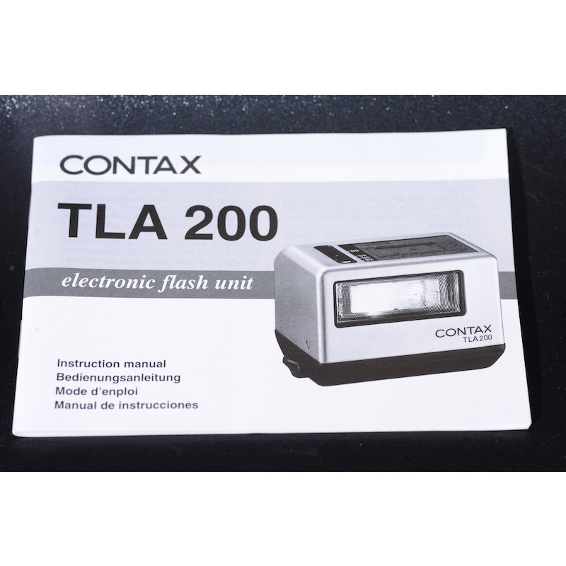 Contax Anleitung Blitz TLA 200