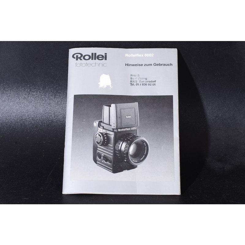 Rollei Anleitung Flex 6002 Hinweise zum Gebrauch