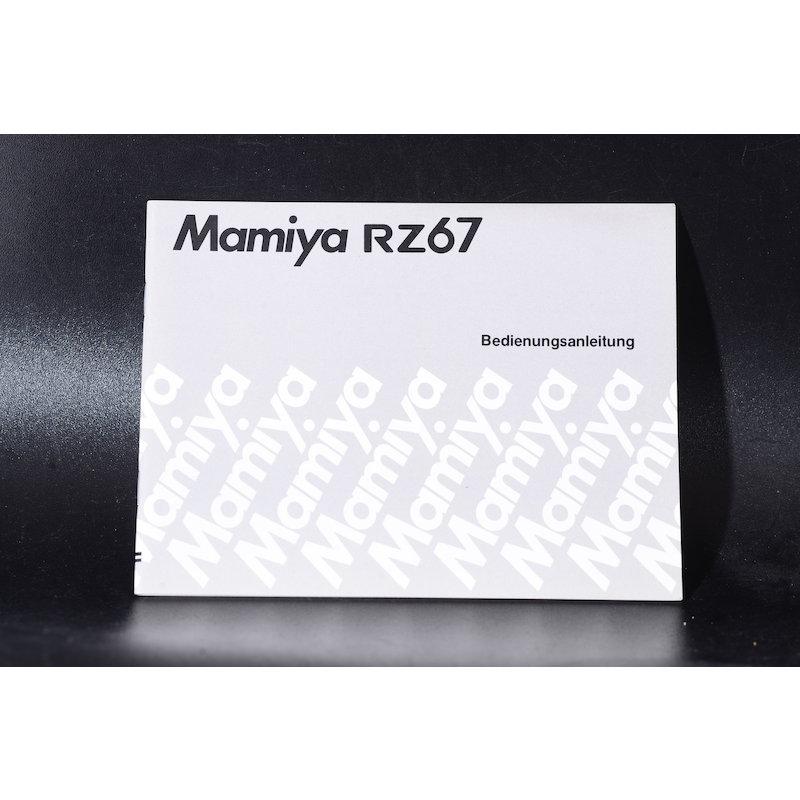 Mamiya Anleitung RZ67