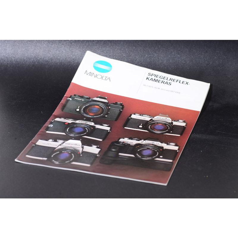 Minolta Prospekt Spiegelreflexkameras XD7/XD5/XG-M/XG-1 und SR-T 100X