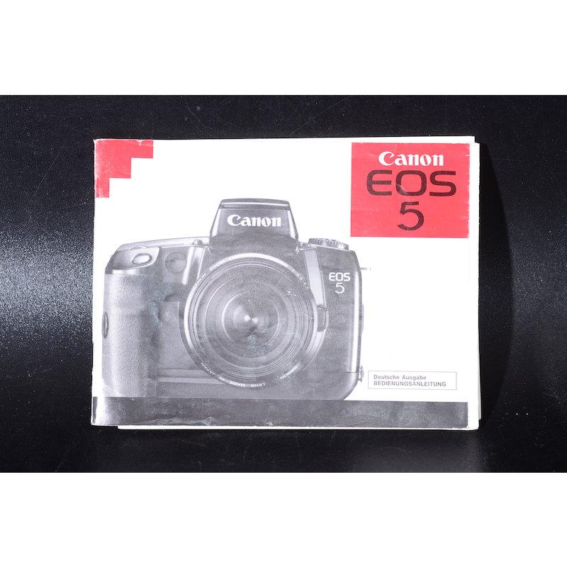 Canon Anleitung EOS 5