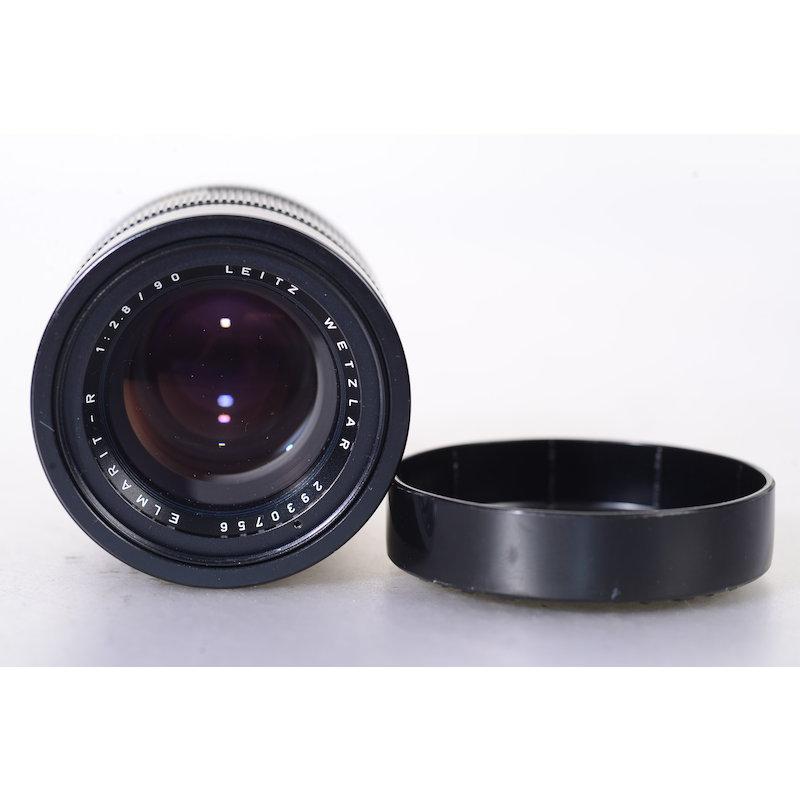 Leica Elmarit-R 2,8/90 Ser VII #11239 (Putzspuren Rücklinse)
