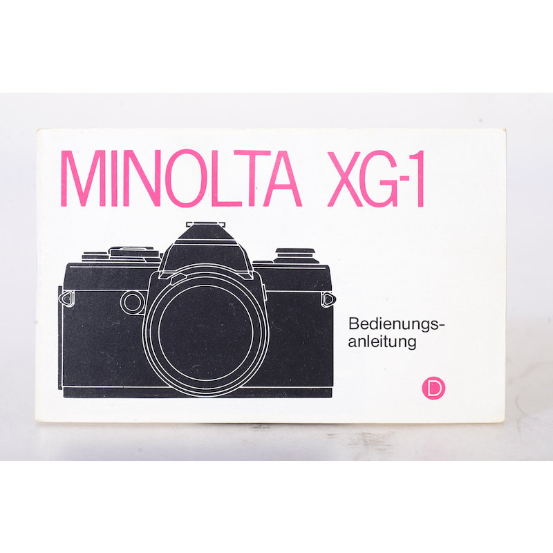 Minolta Anleitung XG-1