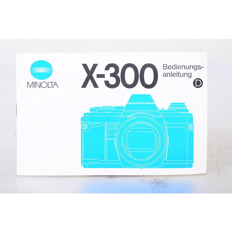 Minolta Anleitung X-300