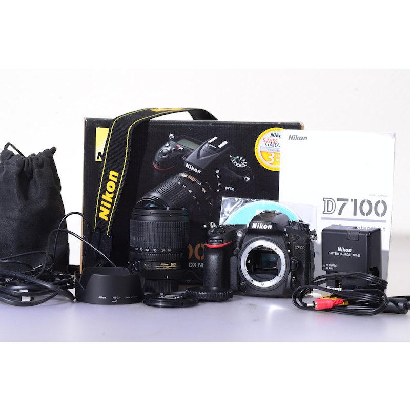 Nikon D7100+AF-S 3,5-5,6/18-105 G ED VR Kit (8705 Auslösungen)
