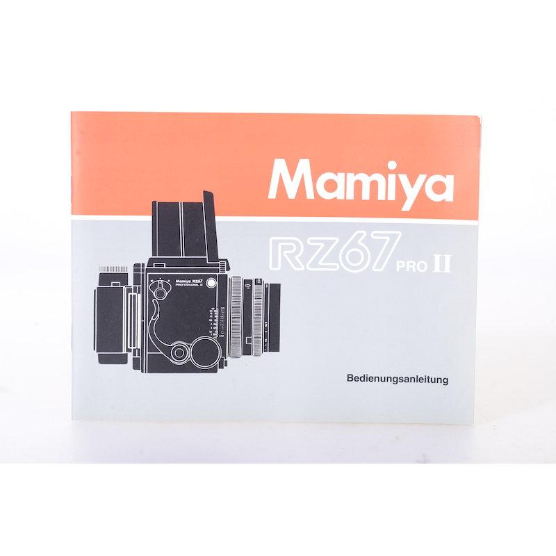 Mamiya Anleitung RZ67 Pro II