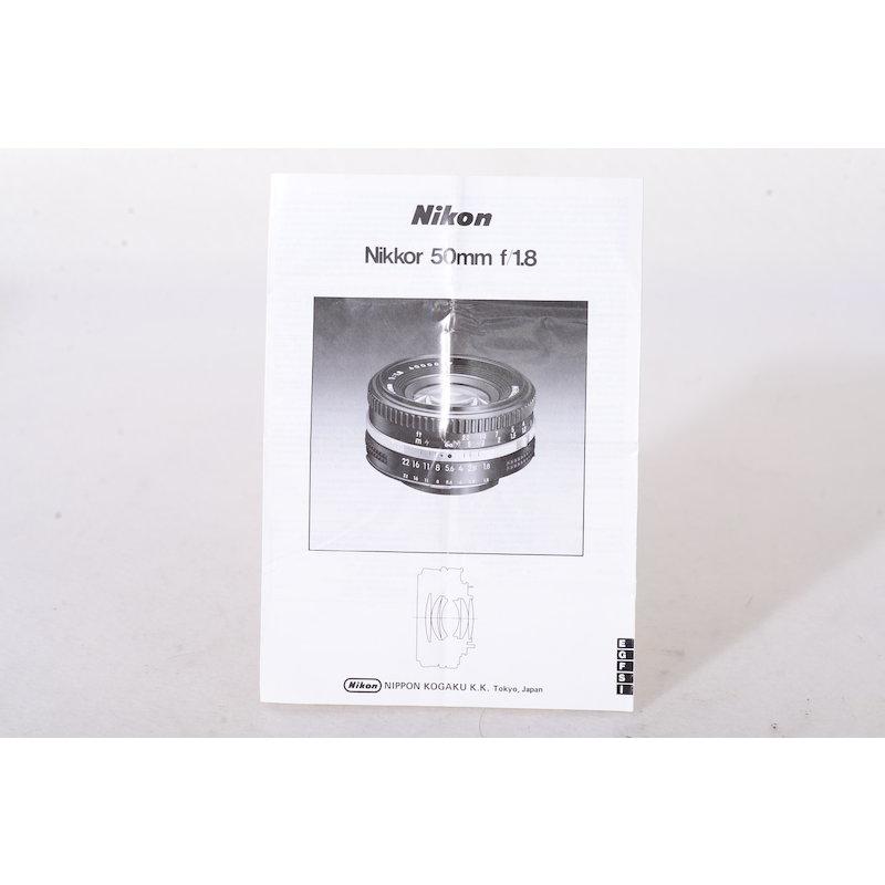 Nikon Datenblatt Ai/S 1,8/50