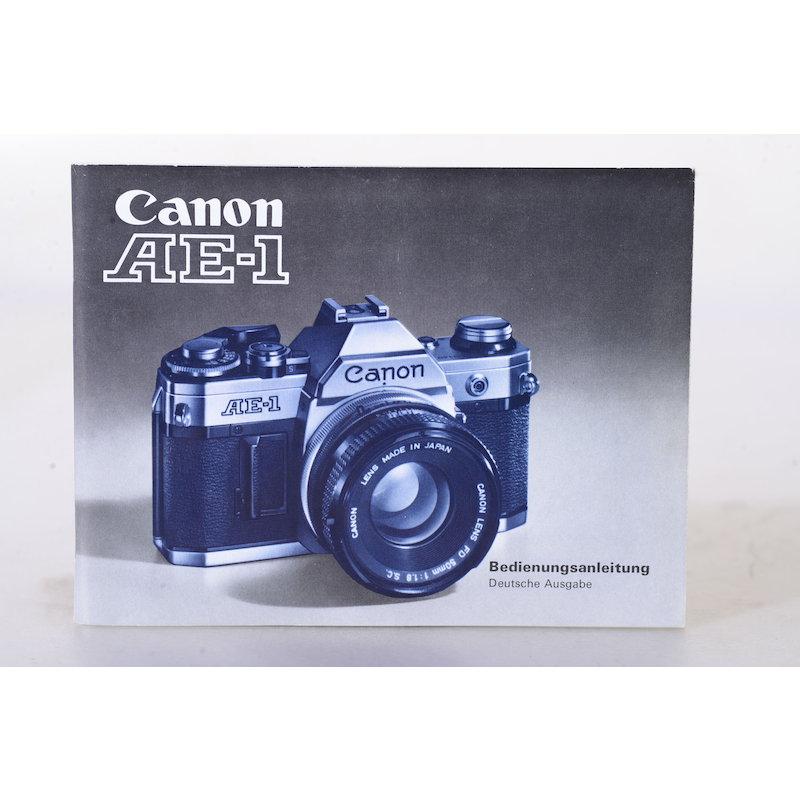 Canon Anleitung AE-1