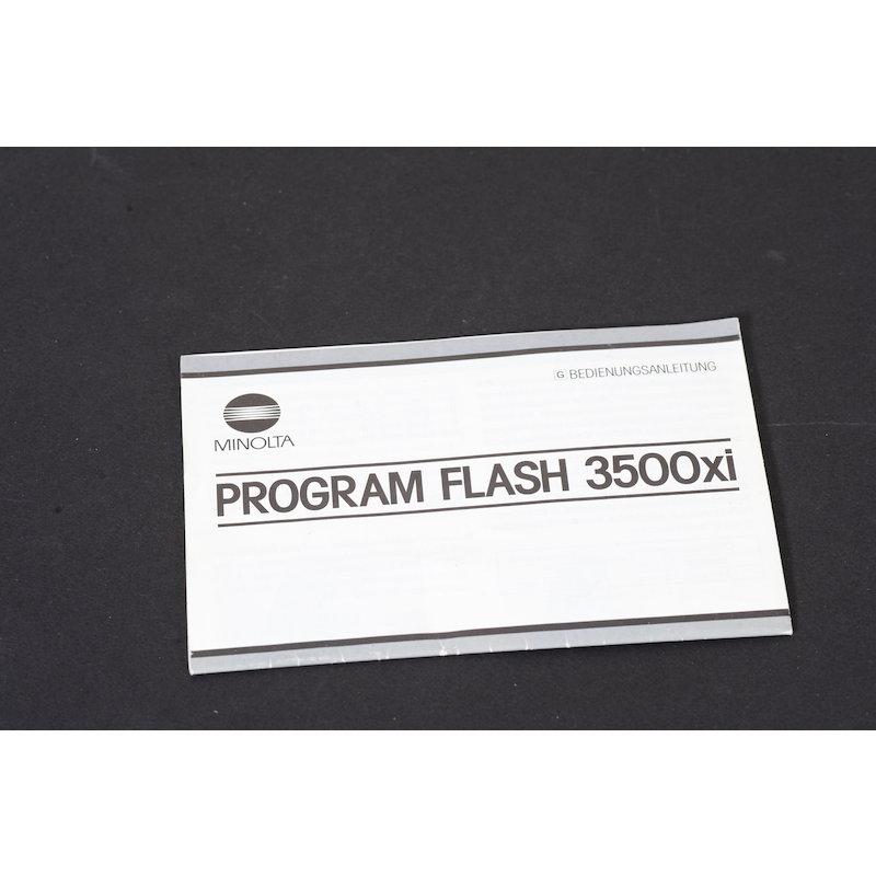 Minolta Anleitung Programm Blitz 3500 XI